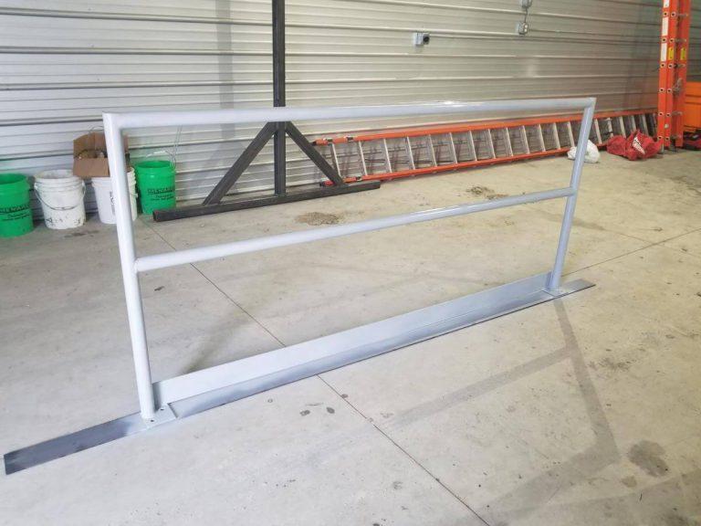 custom fabricated welded handrail