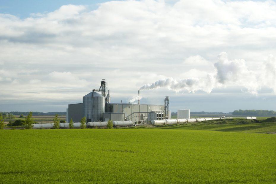 Ethanol plant landscape view