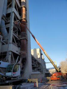 structural welders use crane