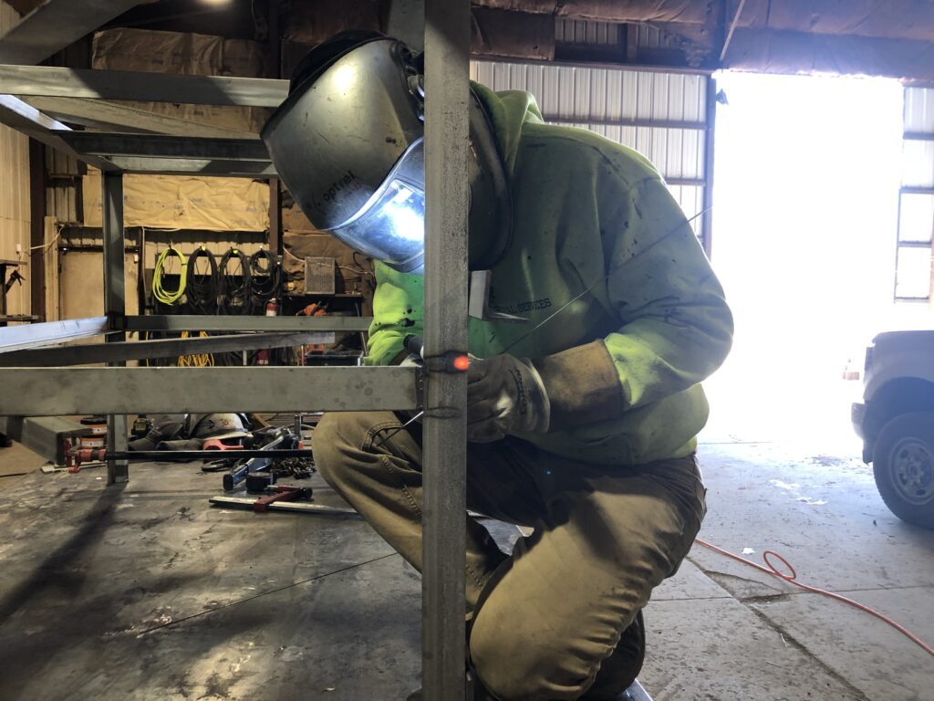 tig welding stainless steel table