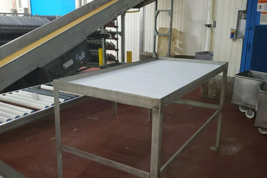 custom fabricated cutting table finished